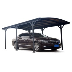 Carport en aluminium anthracite 3x5,05m et polycarbonate 6mm X-METAL