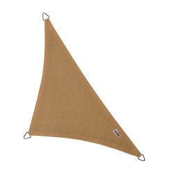 Voile d'ombrage triangle 90° Coolfit 400x400x570cm sable - NESLING