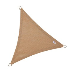 Voile d'ombrage triangle Coolfit 500x500x500cm sable - NESLING